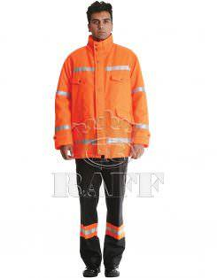 معطف العمل البرتقالي